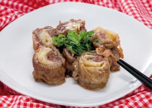 【狭窄症対策レシピ】牛肉の酢ショウガ巻
