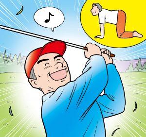 【症例報告・ネコ伸び体操】3ヵ月行ったら狭窄症の痛みがほぼ半減し、ゴルフもできた