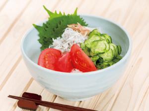 【狭窄症対策レシピ】トマトシラス丼