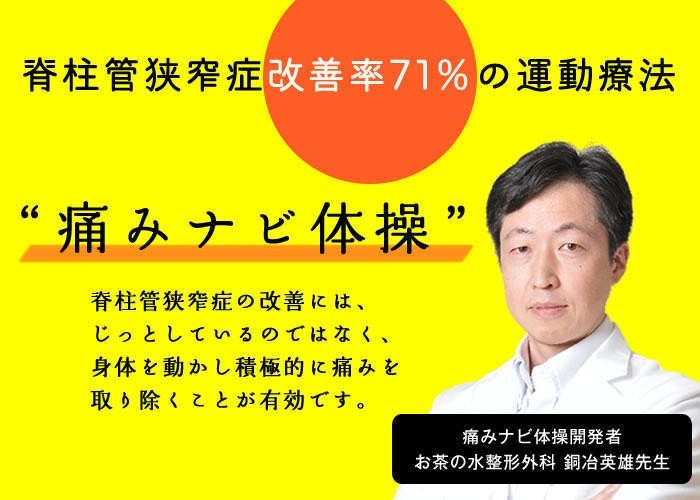 TVなどでも活躍するお茶の水整形外科院長・銅冶英雄先生が解説する特効体操「痛みナビ体操」を大公開!