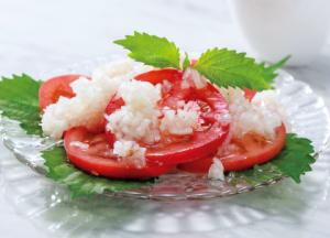 【狭窄症対策レシピ】タマネギたっぷりドレッシングのトマトサラダ