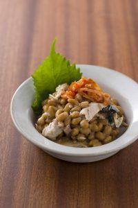 【狭窄症対策レシピ】サンマと納豆のキムチ和え