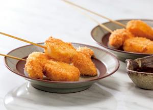 【狭窄症対策レシピ】タマネギとヤマイモの串揚げ