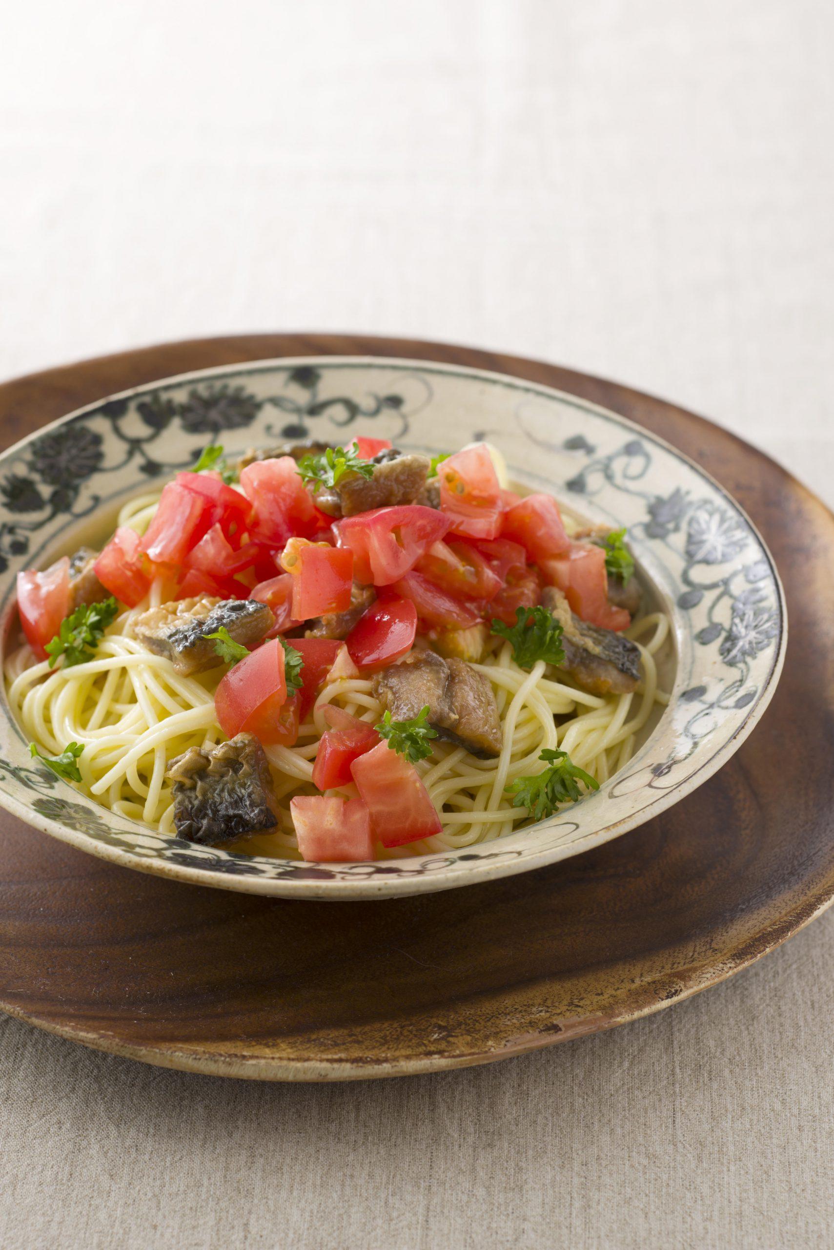 【狭窄症対策レシピ】サンマとトマトのパスタ